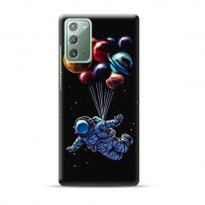 "TPU dėklas unikaliu dizainu 1.0 mm ""u-case Airskin Cosmo design"" Samsung Galaxy Note 20 telefonui"