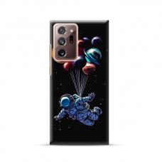 """TPU dėklas unikaliu dizainu 1.0 mm """"u-case Airskin Cosmo design"""" Samsung Galaxy Note 20 Ultra telefonui"""