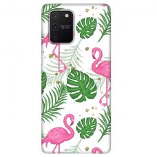 "Tpu Dėklas Unikaliu Dizainu 1.0 Mm ""U-Case Airskin Flamingos Design"" Samsung Galaxy S10 Lite Telefonui"