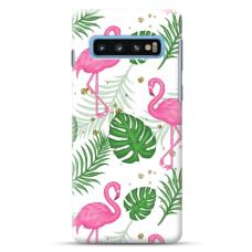 """Tpu Dėklas Unikaliu Dizainu 1.0 Mm """"U-Case Airskin Flamingos Design"""" Samsung Galaxy S10 Telefonui"""