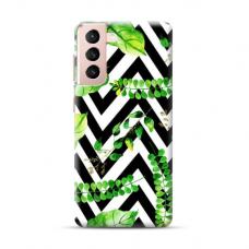 "TPU dėklas unikaliu dizainu 1.0 mm ""u-case Airskin Leaves 2 design"" Samsung Galaxy S21 Plus telefonui"