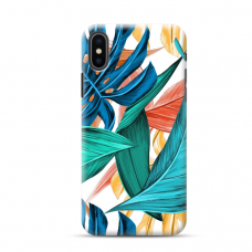 "TPU DĖKLAS UNIKALIU DIZAINU 1.0 mm ""U-CASE AIRSKIN LEAVES DESIGN"" IPHONE XR TELEFONUI"