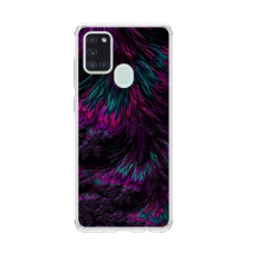 "TPU DĖKLAS UNIKALIU DIZAINU 1.0 mm ""U-CASE AIRSKIN FEATHER DESIGN"" SAMSUNG GALAXY A21S TELEFONUI"
