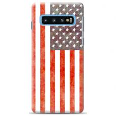 "Tpu Dėklas Unikaliu Dizainu 1.0 Mm ""U-Case Airskin Usa Design"" Samsung Galaxy S10 Telefonui"