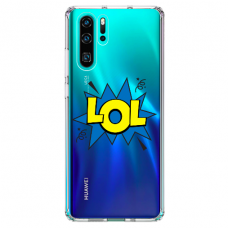"Tpu Dėklas Unikaliu Dizainu 1.0 Mm ""U-Case Airskin Lol Design"" Huawei P30 Pro Telefonui"