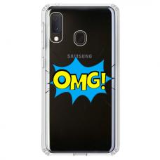 """Tpu Dėklas Unikaliu Dizainu 1.0 Mm """"U-Case Airskin Omg Design"""" Samsung Galaxy A40 Telefonui"""