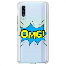 """Tpu Dėklas Unikaliu Dizainu 1.0 Mm """"U-Case Airskin Omg Design"""" Samsung Galaxy A7 2018 Telefonui"""