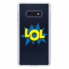 """Tpu Dėklas Unikaliu Dizainu 1.0 Mm """"U-Case Airskin Lol Design"""" Samsung Galaxy S10E Telefonui"""