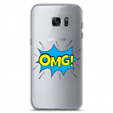 "Tpu Dėklas Unikaliu Dizainu 1.0 Mm ""U-Case Airskin Omg Design"" Samsung Galaxy S6 Edge Telefonui"