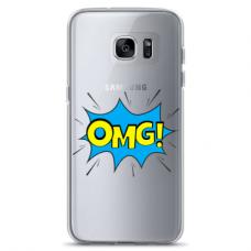 "Tpu Dėklas Unikaliu Dizainu 1.0 Mm ""U-Case Airskin Omg Design"" Samsung Galaxy S7 Edge Telefonui"