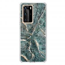 "Tpu Dėklas Unikaliu Dizainu 1.0 Mm ""U-Case Airskin Marble 1 Design"" Huawei P40 Pro Telefonui"