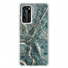 "Tpu Dėklas Unikaliu Dizainu 1.0 Mm ""U-Case Airskin Marble 1 Design"" Huawei P40 Telefonui"