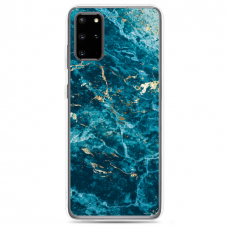 "Tpu Dėklas Unikaliu Dizainu 1.0 Mm ""U-Case Airskin Marble 2 Design"" Samsung Galaxy S20 Plus Telefonui"