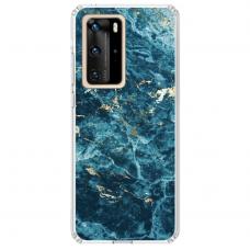 "Tpu Dėklas Unikaliu Dizainu 1.0 Mm ""U-Case Airskin Marble 2 Design"" Huawei P40 Pro Telefonui"