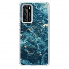 "Tpu Dėklas Unikaliu Dizainu 1.0 Mm ""U-Case Airskin Marble 2 Design"" Huawei P40 Telefonui"