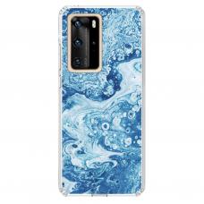 "Tpu Dėklas Unikaliu Dizainu 1.0 Mm ""U-Case Airskin Marble 3 Design"" Huawei P40 Pro Telefonui"