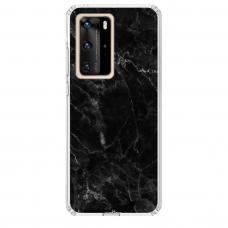 "Tpu Dėklas Unikaliu Dizainu 1.0 Mm ""U-Case Airskin Marble 4 Design"" Huawei P40 Pro Telefonui"