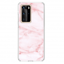 "Tpu Dėklas Unikaliu Dizainu 1.0 Mm ""U-Case Airskin Marble 5 Design"" Huawei P40 Pro Telefonui"