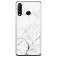 "Tpu Dėklas Unikaliu Dizainu 1.0 Mm ""U-Case Airskin Marble 6 Design"" Huawei P40 Lite E Telefonui"