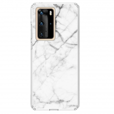 "Tpu Dėklas Unikaliu Dizainu 1.0 Mm ""U-Case Airskin Marble 6 Design"" Huawei P40 Pro Telefonui"