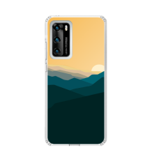"TPU DĖKLAS UNIKALIU DIZAINU 1.0 mm ""U-CASE AIRSKIN MOUNTAINS 2 DESIGN"" HUAWEI P SMART 2021 TELEFONUI"