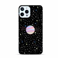 "TPU DĖKLAS UNIKALIU DIZAINU 1.0 mm ""U-CASE AIRSKIN PLANET DESIGN"" IPHONE 12 PRO MAX TELEFONUI"