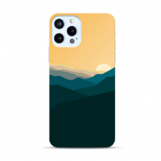 "TPU DĖKLAS UNIKALIU DIZAINU 1.0 mm ""U-CASE AIRSKIN MOUNTAINS 2 DESIGN"" IPHONE 12 PRO MAX TELEFONUI"