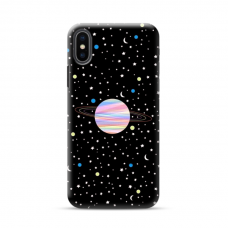 "TPU DĖKLAS UNIKALIU DIZAINU 1.0 mm ""U-CASE AIRSKIN PLANET DESIGN"" IPHONE XR TELEFONUI"