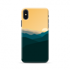 "TPU DĖKLAS UNIKALIU DIZAINU 1.0 mm ""U-CASE AIRSKIN MOUNTAINS 2 DESIGN"" IPHONE XR TELEFONUI"