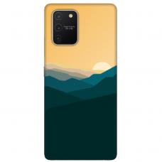 "Tpu Dėklas Unikaliu Dizainu 1.0 Mm ""U-Case Airskin Mountains 2 Design"" Samsung Galaxy S10 Lite Telefonui"