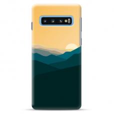 "Tpu Dėklas Unikaliu Dizainu 1.0 Mm ""U-Case Airskin Mountains 2 Design"" Samsung Galaxy S10 Telefonui"