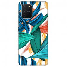 "Tpu Dėklas Unikaliu Dizainu 1.0 Mm ""U-Case Airskin Leaves 1 Design"" Samsung Galaxy S10 Lite Telefonui"
