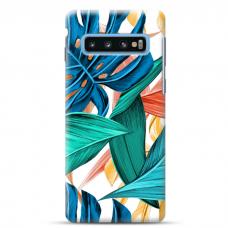 "Tpu Dėklas Unikaliu Dizainu 1.0 Mm ""U-Case Airskin Leaves 1 Design"" Samsung Galaxy S10 Telefonui"