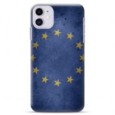 """TPU DĖKLAS UNIKALIU DIZAINU 1.0 MM """"U-CASE AIRSKIN EU DESIGN"""" IPHONE 11 TELEFONUI"""
