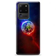 """Tpu Dėklas Unikaliu Dizainu 1.0 Mm """"U-Case Airskin Nature 4 Design"""" Samsung Galaxy S20 Ultra Telefonui"""