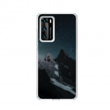 "TPU DĖKLAS UNIKALIU DIZAINU 1.0 mm ""U-CASE AIRSKIN MOUNTAINS 1 DESIGN"" HUAWEI P SMART 2021 TELEFONUI"