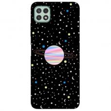"TPU dėklas unikaliu dizainu 1.0 mm ""u-case Airskin Planet design"" Samsung Galaxy A22 5G telefonui"