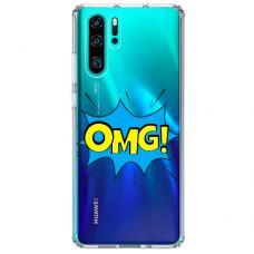 "Tpu Dėklas Unikaliu Dizainu 1.0 Mm ""U-Case Airskin Omg Design"" Huawei P30 Pro Telefonui"
