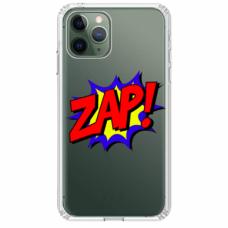 """Tpu Dėklas Unikaliu Dizainu 1.0 Mm """"U-Case Airskin Zap Design"""" Iphone 11 Pro Telefonui"""