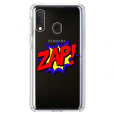 """Tpu Dėklas Unikaliu Dizainu 1.0 Mm """"U-Case Airskin Zap Design"""" Samsung Galaxy A40 Telefonui"""