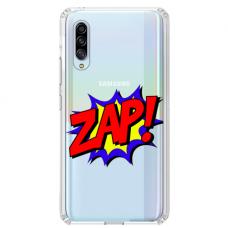 """Tpu Dėklas Unikaliu Dizainu 1.0 Mm """"U-Case Airskin Zap Design"""" Samsung Galaxy A7 2018 Telefonui"""