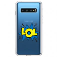 "Tpu Dėklas Unikaliu Dizainu 1.0 Mm ""U-Case Airskin Lol Design"" Samsung Galaxy S10 Plus Telefonui"