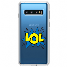 "Tpu Dėklas Unikaliu Dizainu 1.0 Mm ""U-Case Airskin Lol Design"" Samsung Galaxy S10 Telefonui"
