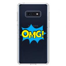 """Tpu Dėklas Unikaliu Dizainu 1.0 Mm """"U-Case Airskin Omg Design"""" Samsung Galaxy S10E Telefonui"""