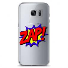 "Tpu Dėklas Unikaliu Dizainu 1.0 Mm ""U-Case Airskin Zap Design"" Samsung Galaxy S6 Edge Telefonui"