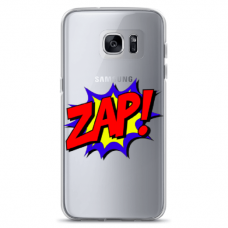 "Tpu Dėklas Unikaliu Dizainu 1.0 Mm ""U-Case Airskin Zap Design"" Samsung Galaxy S7 Edge Telefonui"