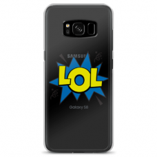 "Tpu Dėklas Unikaliu Dizainu 1.0 Mm ""U-Case Airskin Lol Design"" Samsung Galaxy S8 Plus Telefonui"