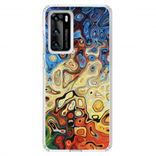 "Tpu Dėklas Unikaliu Dizainu 1.0 Mm ""U-Case Airskin Pattern 1 Design"" Huawei P40 Telefonui"
