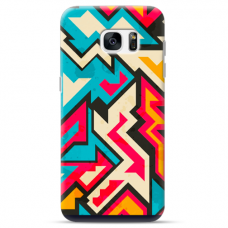 "Tpu Dėklas Unikaliu Dizainu 1.0 Mm ""U-Case Airskin Pattern 7 Design"" Samsung Galaxy S6 Edge Telefonui"