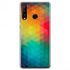 "Tpu Dėklas Unikaliu Dizainu 1.0 Mm ""U-Case Airskin Pattern 3 Design"" Huawei P40 Lite E Telefonui"